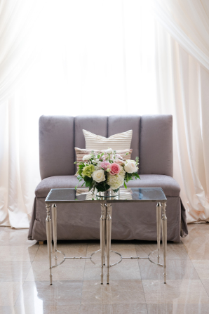 Silver and Purple Wedding Lounge