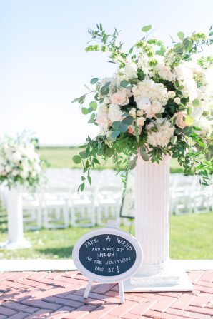 Tall Hydrangea Wedding Arrangement