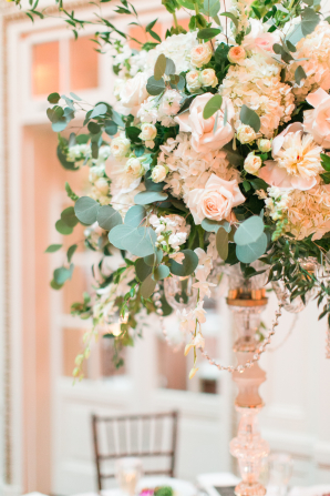 Topiary Arrangement with Hydrangea and Rose