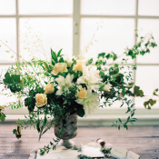 Yellow and Green Wedding Flowers