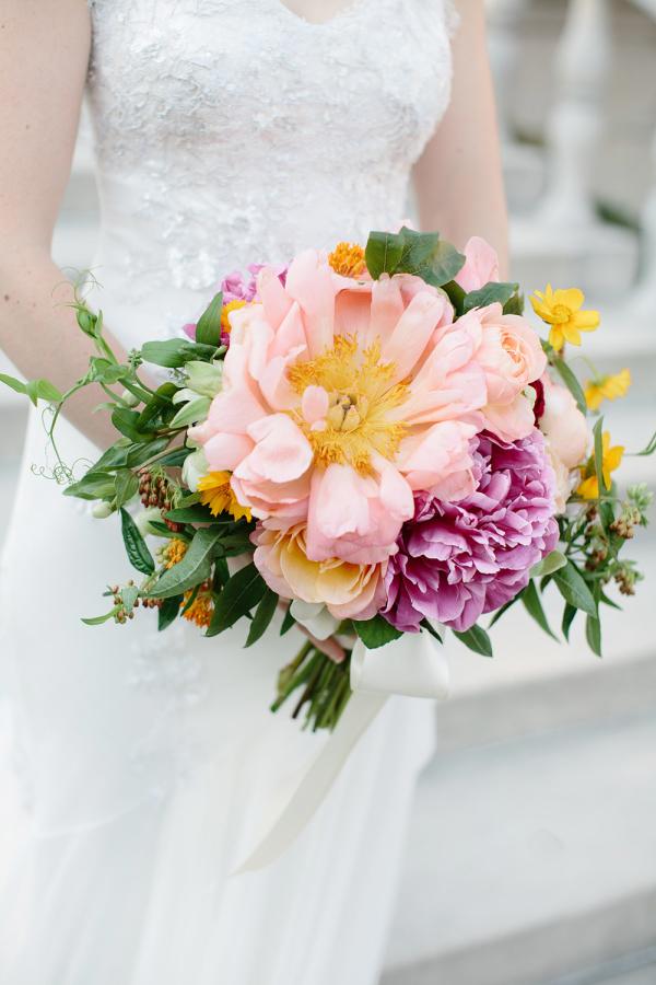 Bouquet of Open Peonies