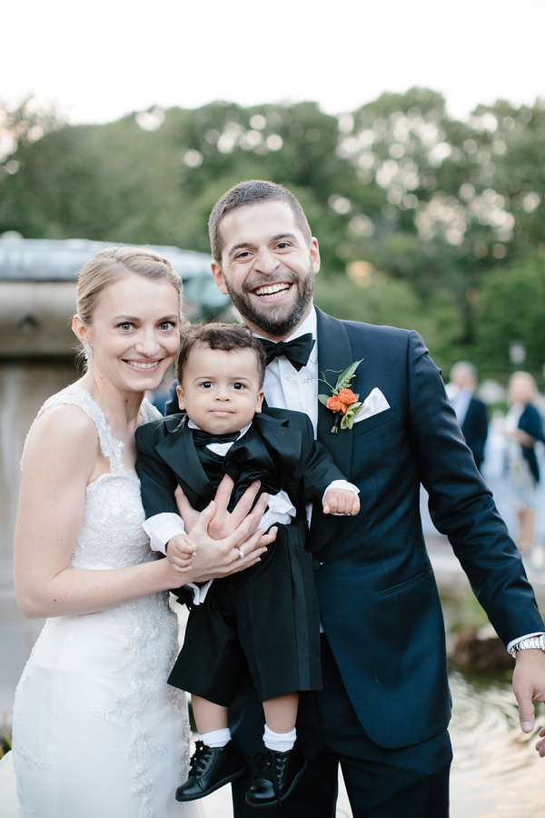 Bride and Groom with Ring Bearer
