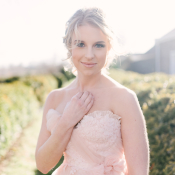 Bride in Blush Gown