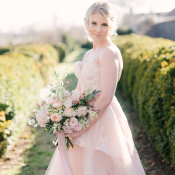 Bride in Pink Gown