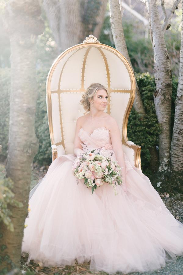 Bride in Vintage Chair