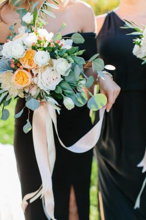 Bridesmaid in Black Dress