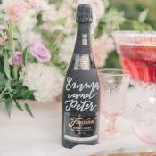 Custom Wine Bottle for Wedding