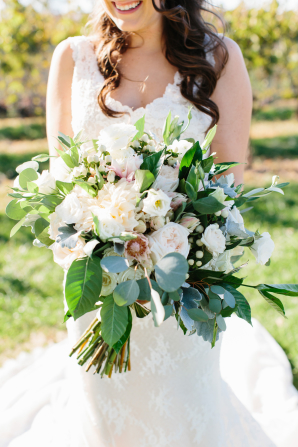 Dahlia and Greenery Bouquet