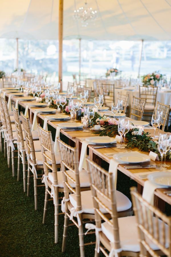 Estate Tables with Silver Chairs
