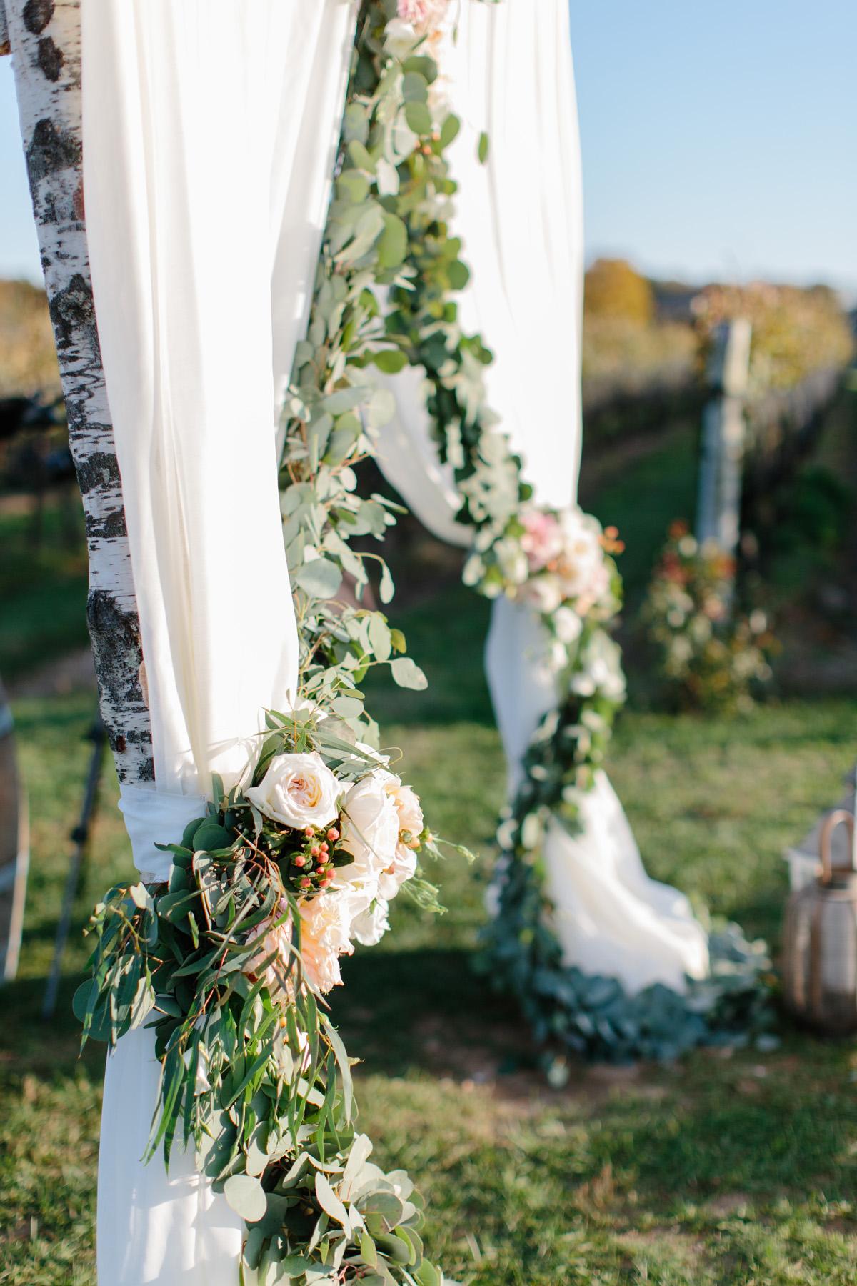 Garland and Drapery Wedding Arch Elizabeth Anne Designs The