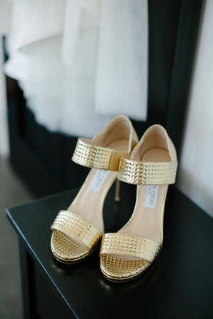 Gold Jimmy Choo Shoes