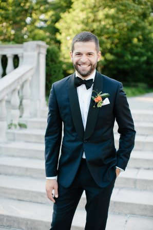 Groom in Charles Tyrwhitt Suit