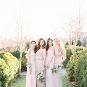 Mismatched Bridesmaids in Pink
