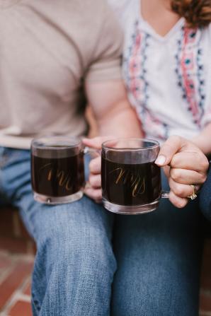 Mr and Mrs Glass Mugs