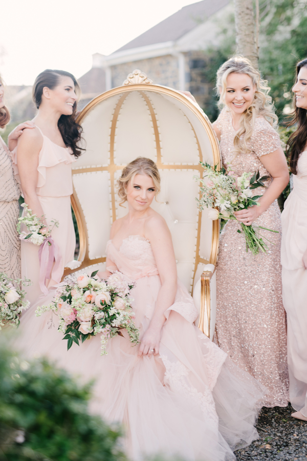 Romantic Pink Bridesmaids
