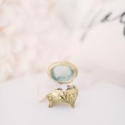 Vintage Gold Ring Box