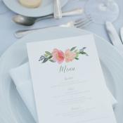 Watercolor Flower Wedding Menu