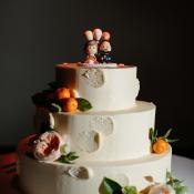 Wedding Cake with Kumquats