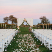 Wedding Ceremony at Sunset