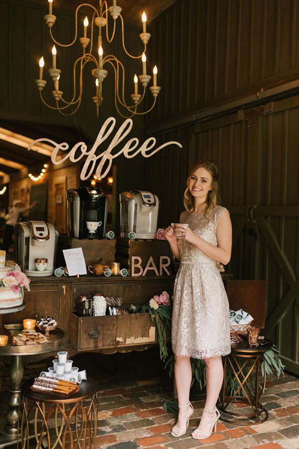 Wedding Reception Coffee Bar