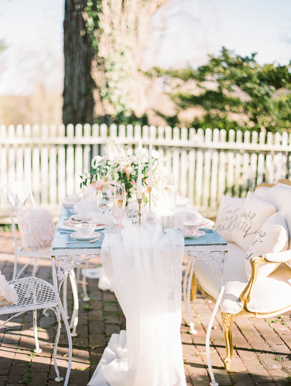 Wedding Table with Silk Runner