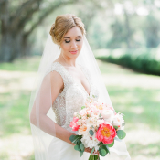 Bride with Beaded Gown