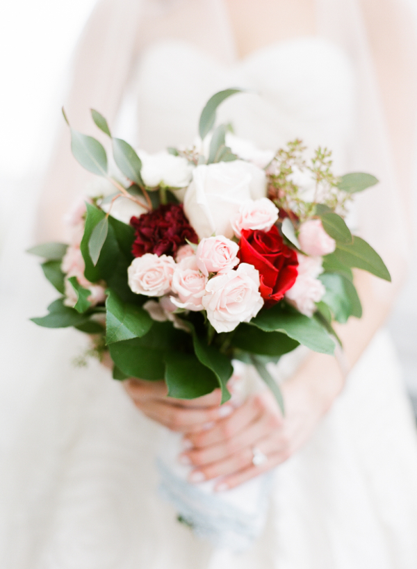 Blush and Red Bridal Bouquet
