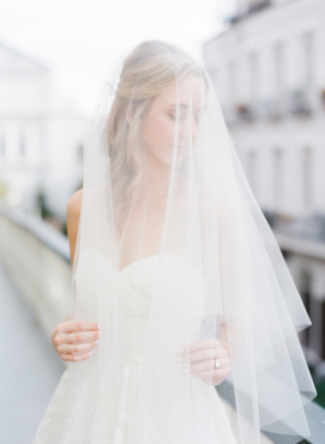 Bride in Fingertip Veil