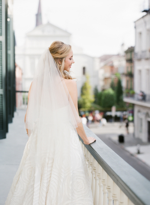 Bride on New Orleans Balcony