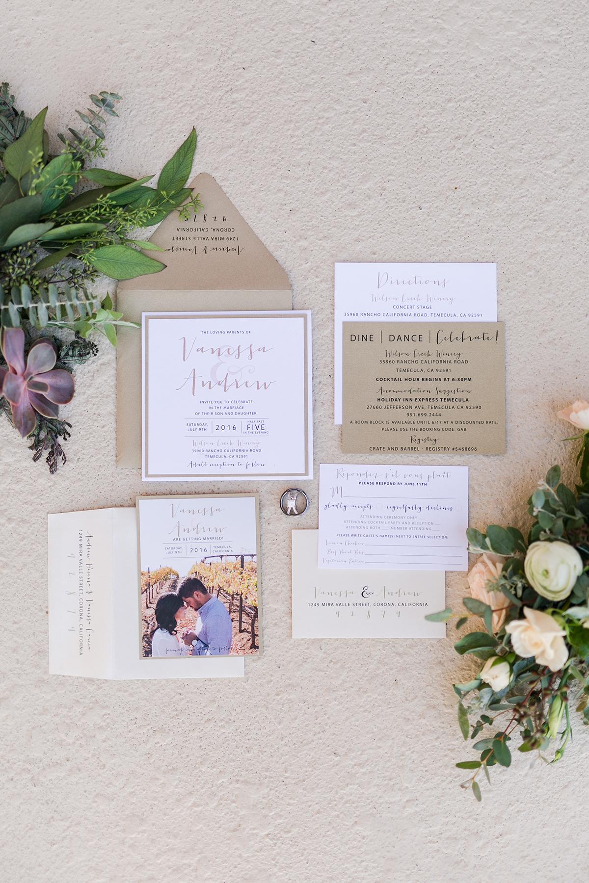 Kraft Paper Wedding Invitations - Elizabeth Anne Designs: The ...
