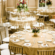 Reception with Gold Tables