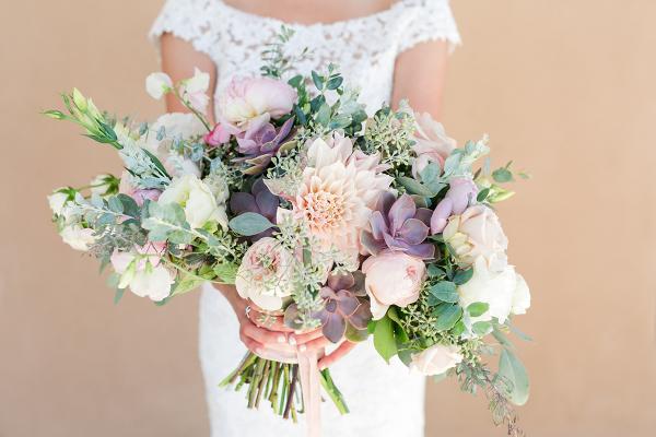 Succulent and Dahlia Bridal Bouquet