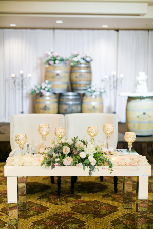 Sweetheart Table with Sofa Seating