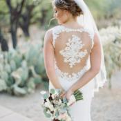 Applique Back Wedding Dress