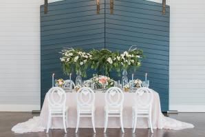 Blue and Green Classic Wedding