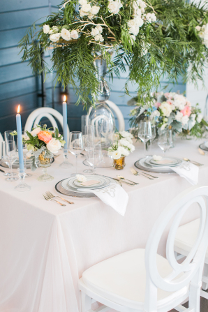 Blue and Green Classic Wedding Reception