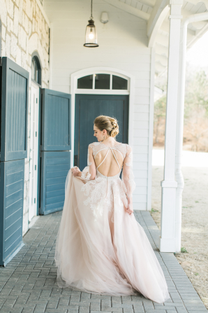 Blush Hayley Paige Gown
