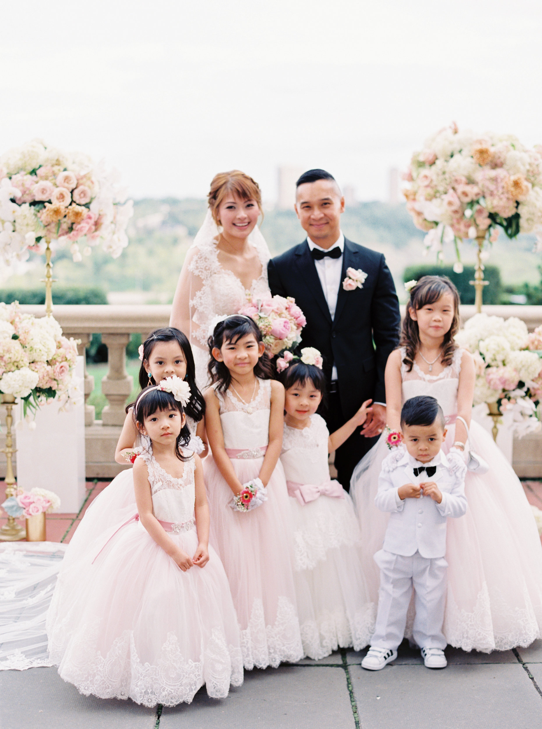 2398ef8191f Bride and Groom with Flower Girls and Ring Bearer - Elizabeth Anne ...