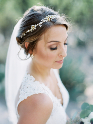 Bride in Crystal Headpiece