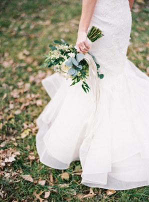 Bride with Hand Tied Bouquet