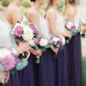 Bridesmaid Purple Skirt