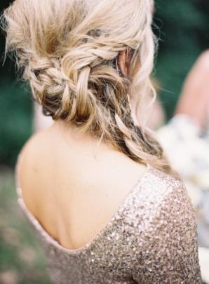 Bridesmaid with Messy Braid
