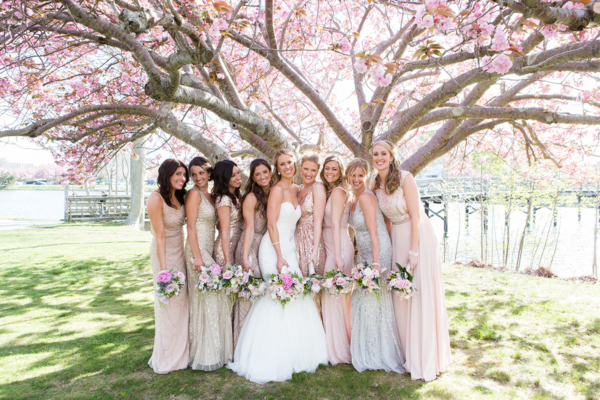Bridesmaids in Metallics