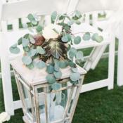 Eucalyptus and Lantern Wedding Decor