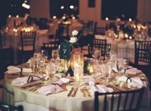 Fall Indoor Wedding Reception