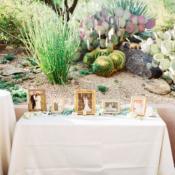 Family Photo Table at Wedding