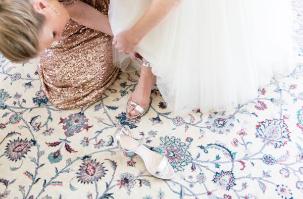 Gold Bridal Shoes