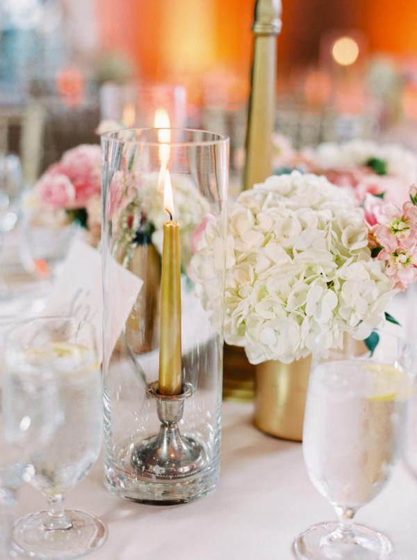 Gold Taper Candles In Vases Elizabeth Anne Designs The Wedding Blog