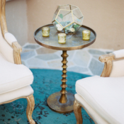 Gold and Teal Wedding Lounge Area