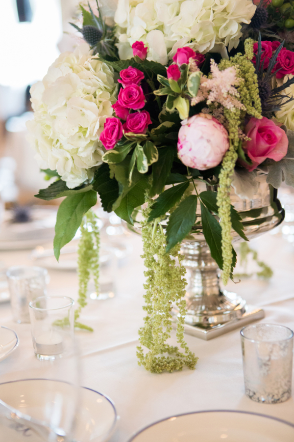 Green and Hot Pink Centerpiece